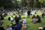 Protesters gathered at Laurelhurst Park before marching to the Multnomah County Sheriff's Office in Southeast Portland on May 31, 2020.