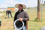 Ray Baird prepares to compete in the Big Loop Rodeo in Jordan Valley.