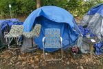 A tent at Portland's Laurelhurst Park. House Bill 3115 would make it harder for governments across Oregon to regulate how people live outdoors.