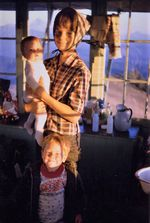 Don Allen with his mother and sister at Sand Mountain in 1966.