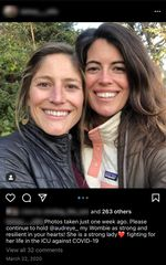 On her Instagram account Kelsey, right, implored people to pray for Audrey as she fought for her life in an Oregon hospital.