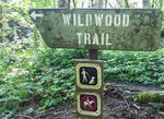 This sign marks one terminus of the Wildwood Trail at Newberry.