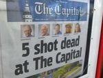 Jarrod Ramos, the admitted gunman in the attack on the Capital Gazette, was found criminally responsible by a jury in July. A copy of the newspaper is seen in a vending box in Annapolis, Md., on June 29, 2018, the day after the deadly shooting.