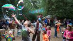 Bubbles provide endless entertainment for all ages at the Oregon Country Fair.