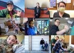 These are the faces of some of the dozens of Northwest residents who shared stories of life during COVID-19 with OPB this year.