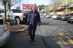 Full-service Instacart shopper Carl Momberger heads out to make a grocery delivery in Portland, Ore. on March 5, 2020. He said orders flooded in when the first COVID-19 cases were announced in the state.