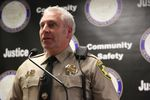 Deschutes County Sheriff Shane Nelson speaks at a press conference Dec. 7, 2018.