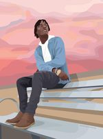 A memorial portrait of Quanice Hayes illustrated by Ameya Marie Okamoto. Hayes was shot and killed by Portland Police in 2017.
