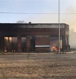 The post office in Malden, Washington burned during a fast-moving wildfire on Sept. 7, 2020, along with much of the rest of the small Whitman County town.