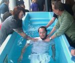 Michael Ray Townsend at his baptism about ten years ago in Bakersfield, California.