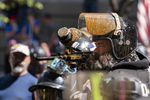 Proud Boy Alan Swinney fires paintballs at antifascist counterprotesters during pro-Trump and pro-police demonstrations earlier this summer. The right-wing group plans another protest in Portland on Sept. 26.