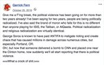 A 2018 Facebook post by Garrick Fernbaugh after explosive devices were sent to CNN and Democratic politicians by a Florida man. Fernbaugh, a retired Navy SEAL and former CIA contractor, was seen leaving the Laurelhurst park carrying a ballistic helmet and night vision goggles after someone threw a makeshift explosive at protesters.