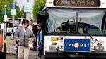 Passengers exit a TriMet bus.