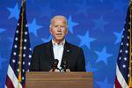 Democratic presidential candidate former Vice President Joe Biden speaks Thursday, Nov. 5, 2020, in Wilmington, Del. (AP Photo/Carolyn Kaster)