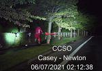 Dashcam footage shows Jeremiah Wright carrying a handgun as he runs from a sheriff's deputy.