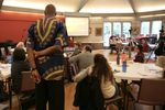David Campt listens to as attendee of his White Ally Toolkit workshop shares her experience with racism skeptics at the Unitarian Universalist Church of Vancouver on February 17, 2018.
