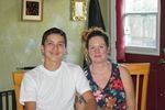 Class of 2025 student Osvaldo and his mom Andrea at their home in September.