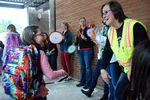 Earl Boyles' principal Ericka Guynes says goodbye to a student on the last day of school.
