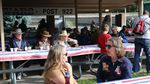People have breakfast at a VFW fundraiser before the Pendleton Roundup and Rodeo gets underway.