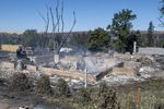A house that was destroyed by wildfire is shown Tuesday, Sept. 8, 2020, in Malden, Wash.