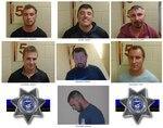 Mug shots of seven men arrested on July 4, 2020, in Lincoln City.