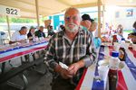 """Chris Eggo of Pendleton has breakfast at a VFW fundraiser. An army veteran, he says, """"I'm not really a [political] party kinda guy."""" Still, he registers to vote as a Democrat, and he says his best friend is a Republican."""