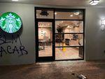 Anarchist protesters vandalized a Portland Starbucks on Nov. 2, 2020.