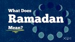 What does Ramadan mean?