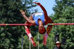 New York Empire high jumper Amina Smith clears the bar during her second attempt.