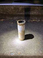 A photo of an improvised explosive device allegedly thrown at protesters Aug. 8, 2020 in Laurelhurst Park.