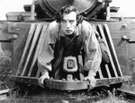 """Buster Keaton stars as Johnny Gray in his 1926 silent film """"The General,"""" which was filmed in Cottage Grove, Oregon. To celebrate its 90th birthday, the Hollywood Theatre has commissioned an original live score to tour the state."""