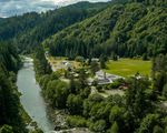 The tiny southern Oregon town of Tiller lies along the South Umpqua River. An old timber town, many of the properties that make up Tiller are up for sale. The properties include vacant farms, waterfront properties, commercial properties and an old, closed elementary school.