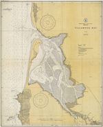 This map shows Tillamook Bay prior to the building of jetties.