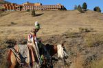 It was a somber goodbye to Kah-Nee-Ta for many. A young woman in traditional regalia marched on horseback to the final Saturday salmon bake with traditional dancing.
