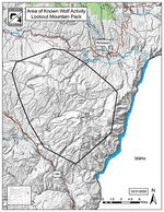 Oregon Department of Fish and Wildlife has authorized the lethal removal of up to four wolves from the area outlined on this map in Baker County.