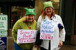 Mellani Calvin and Barbara Martin at Portland's March For Science.