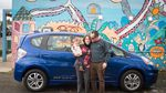 A Portland family tests out a new pilot electric car sharing program in the Cully neighborhood.