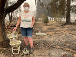 Susan McMillan's Phoenix home burned down in the Almeda fire.