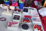 Stickers and bracelets for sale inside the Quicken Loans Arena during the Republican National Convention in Cleveland, July 20, 2016.