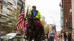Occupation supporters (and a horse named Lady Liberty) marched around the block outside the federal courthouse in Portland following the verdict.