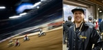 Left: 2020 was the first year the One Show had racing and the show under the same roof. Right: See See Motor Coffee co-owner Teddy Albertson.