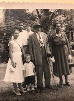 Oregon Sen. Lew Frederick (bottom) photographed with his great-grandparents (right), parents (left) and sister Karla (above) in 1954.