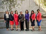 The women of the Oregon Legislature's BIPOC caucus pose for a photo on the final day of the 2021 session. From left: Rep. Andrea Valderrama (D-East Portland), Rep. Andrea Salinas (D-Lake Oswego), Rep. Wlnsvey Campos (D-Aloha), Rep. Tawna Sanchez (D-North/NE Portland), Rep. Khanh Pham (D-East Portland), Rep. Teresa Alonso-Leon (D-Woodburn) and Rep. Janelle Bynum (D-Happy Valley).