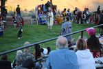Tourists gather to watch young women do a traditional dance during the final weekend of operation at Kah-Nee-Ta.