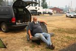 """Robert Loomis moved to Cascade Locks not even a month ago from Hood River. Last weekend, was forced to leave his apartment. """"Just my luck. I'm there for a month and they evacuate us,"""" he said."""