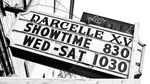 A sign advertises showtimes for the Darcelle XV drag show in Portland, Oregon, in this March 1, 2008 file photo.
