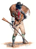 An artists' rendering of York, the only Black member of the Lewis & Clark Expedition and a slave of William Clark.