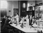 A photograph of the bacteriology laboratory at Howard University displayed at the 1900 Exposition Universelle in Paris.