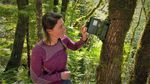 """It would be very unlikely for something that lives here that makes noise not to make a noise in that time,"" says Leila Duchac, a graduate student researcher at Oregon State University, about the use of digital recorders in the forest."