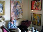 The painter Bob Fergison in his apartment.